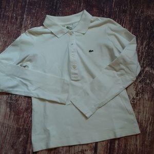 Lacoste long sleeve white polo sz 2 (EU 34)